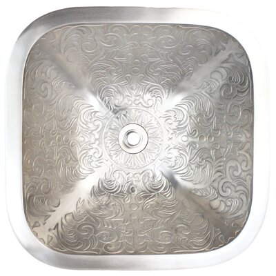Brocade Square Vessel Bathroom Sink Finish: White Bronze