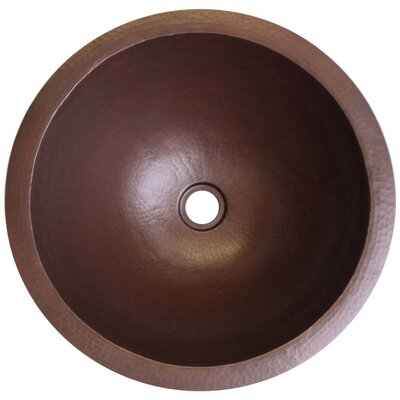 Large Self Rimming Bathroom Sink Finish: Dark Bronze