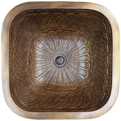 Wing Metal Square Undermount Bathroom Sink Finish: Antique Bronze