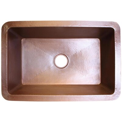 30 x 20 Undermount Kitchen Sink Finish: Weathered Copper
