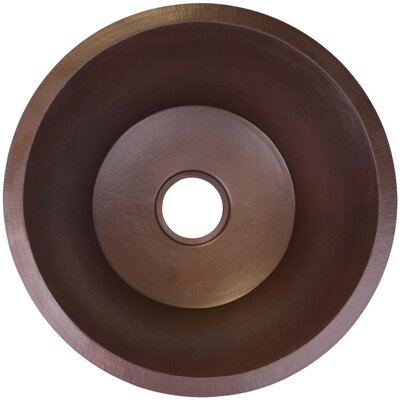 19 x 19 Large Flat Round Bar Sink Finish: Dark Bronze