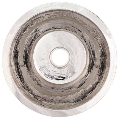 19 x 19 Large Flat Round Bar Sink Finish: Polished Nickel