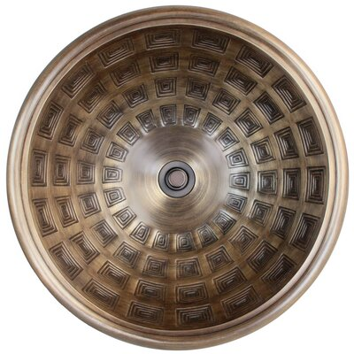 Pantheon Circular Vessel Bathroom Sink Finish: Antique Bronze