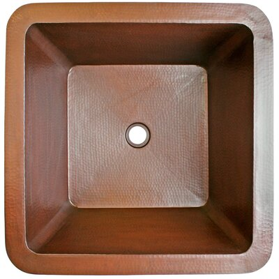 20 x 20 Large Square Bar Sink Finish: Weathered Copper