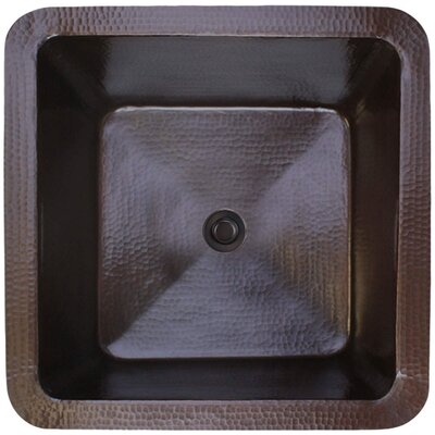 20 x 20 Large Square Bar Sink Finish: Dark Bronze