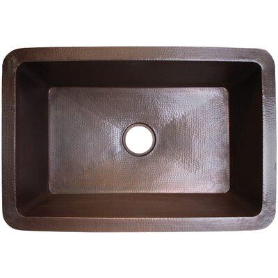 25 x 20 Undermount Kitchen Sink Finish: Dark Bronze