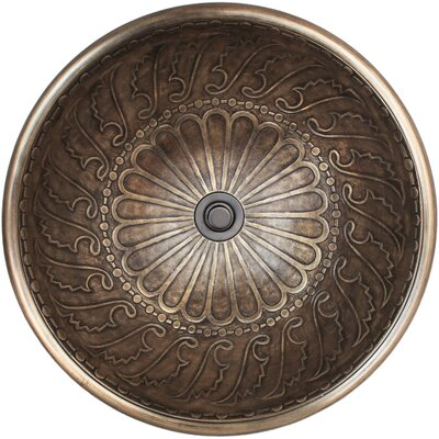 Small Wing Metal Circular Vessel Bathroom Sink Finish: Antique Bronze