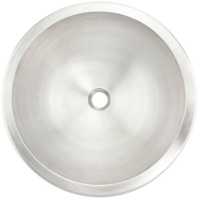 Smooth Circular Undermount Bathroom Sink Finish: White Bronze