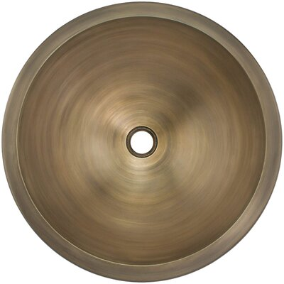 Smooth Circular Undermount Bathroom Sink Finish: Antique Bronze
