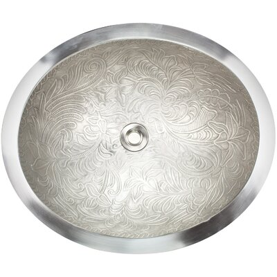 Botanical Metal Oval Undermount Bathroom Sink Finish: White Bronze