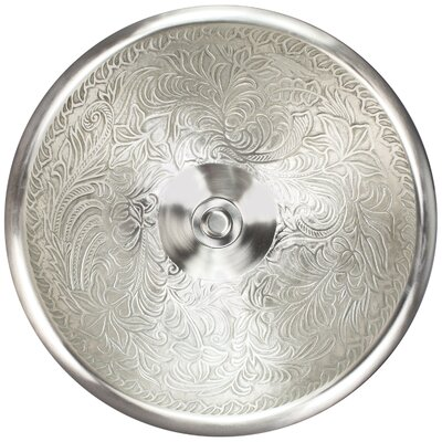 Botanical Metal Circular Vessel Bathroom Sink Finish: White Bronze