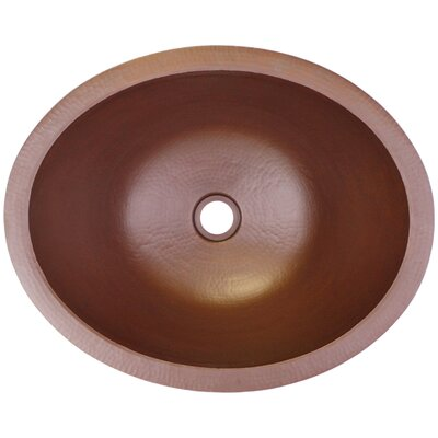 Small Oval Undermount Bathroom Sink Finish: Weathered Copper
