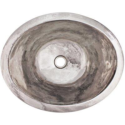 Small Oval Undermount Bathroom Sink Finish: Polished Nickel
