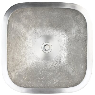 Botanical Square Vessel Bathroom Sink Finish: White Bronze