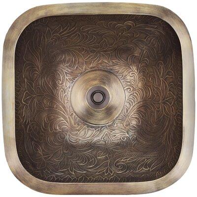 Botanical Square Vessel Bathroom Sink Finish: Antique Bronze