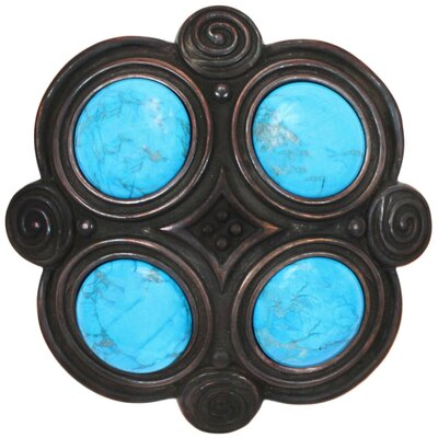 Quad Turquoise Grid Shower Drain Finish: Dark Bronze, Overflow: No
