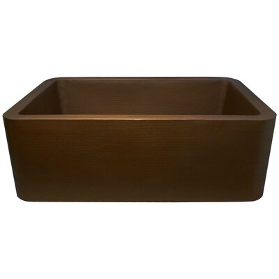 25 x 20 Single Bowl Farmhouse Kitchen Sink Finish: Dark Bronze