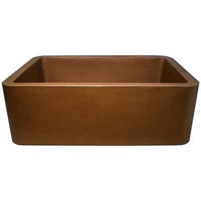 25 x 20 Single Bowl Farmhouse Kitchen Sink Finish: Weathered Copper