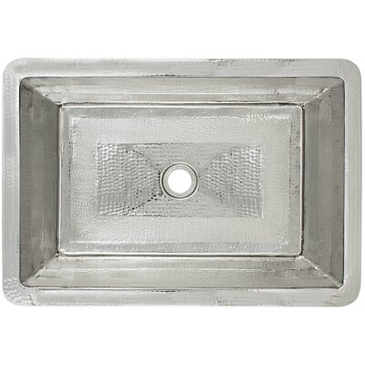 Stripes Metal Rectangular Undermount Bathroom Sink Finish: Weathered Copper