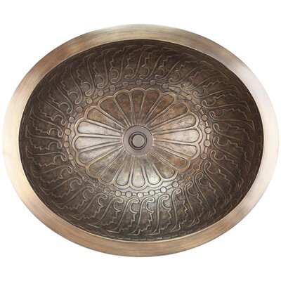 Wing Metal Oval Drop-In Bathroom Sink Finish: Antique Bronze