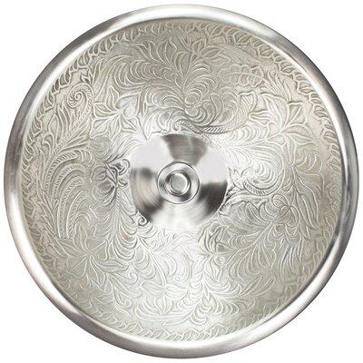 Circular Vessel Bathroom Sink Finish: White Bronze