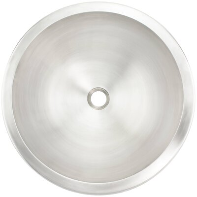Smooth Metal Circular Undermount Bathroom Sink Finish: White Bronze