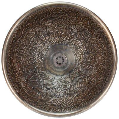 Botanical Metal Circular Vessel Bathroom Sink Finish: Antique Bronze