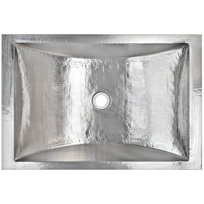 Crescent Metal Rectangular Drop-In Bathroom Sink Finish: Polished Stainless Steel