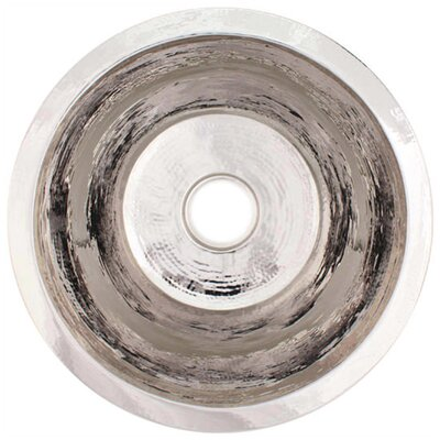 19 x 19 Large Flat Round Bar Sink Finish: Polished Nickel