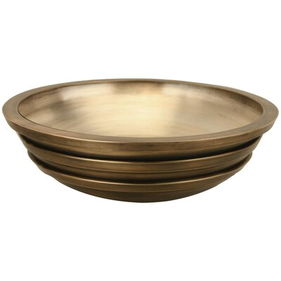 Exterior Stripe Circular Vessel Bathroom Sink Finish: Antique Bronze