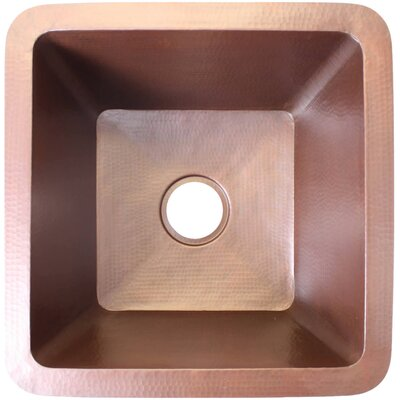 16 x 16 Small Square Bar Sink Finish: Weathered Copper
