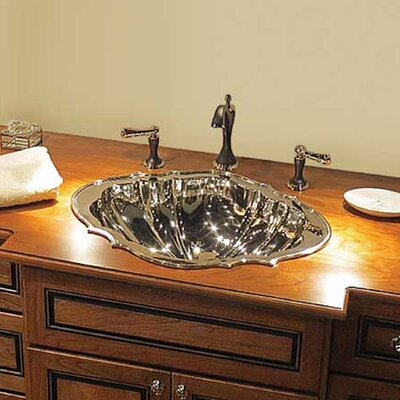 Vintage Metal Specialty Drop-In Bathroom Sink Finish: Polished Nickel