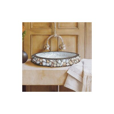 Seashell Self Rimming Bathroom Sink Finish: White Bronze