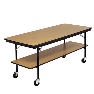 Training Table with Wheels Size: 30 H x 72 W x 30 D