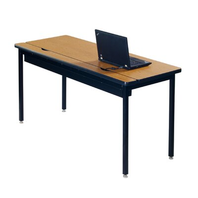 Training Table with Cable Management Size: 29 H x 48 W x 24 D