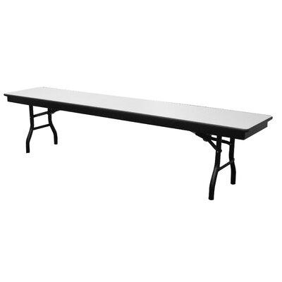 "AmTab Manufacturing Corporation Rectangular Folding Table - Size: 17"" H x 72"" W x 15"" D"