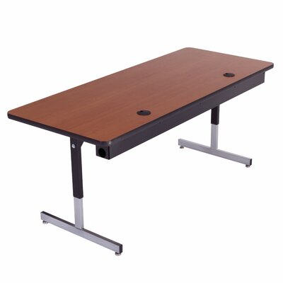 Training Table with Cable Management Size: 29 H x 60 W x 24 D