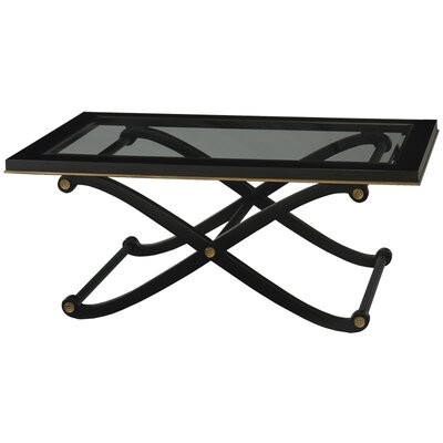Regency Coffee Table Color: Black with Gold Accents