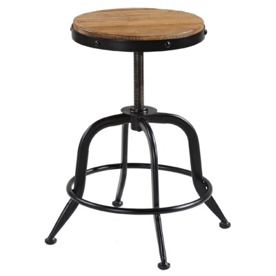 Palisades Adjustable Height Swivel Bar Stool