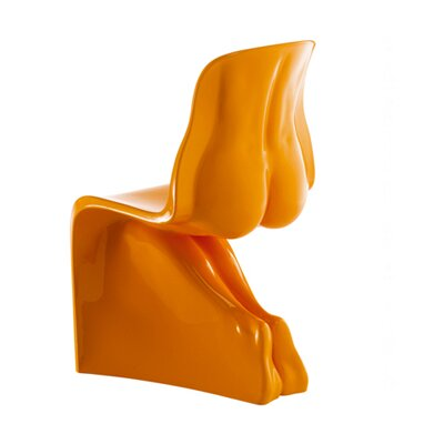 Her Side Chair Color: Glossy Orange