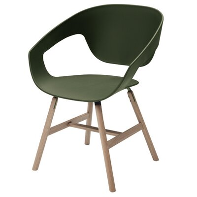 Vad Barrel Chair Color: Green