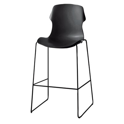 Stereo Bar Stool (Set of 2) Upholstery: Black