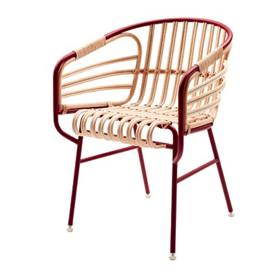 Raphia Barrel Chair Color: Bordeaux