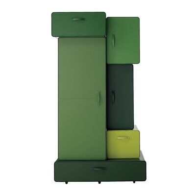 Valises Armoire Finish: Green