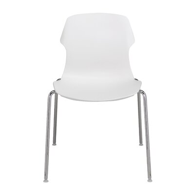 Stereo Side Chair Color: Sand, Color: Chrome