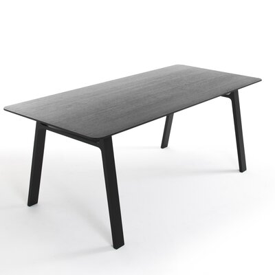Pontoon Dinning Table Finish Black Painted Oak