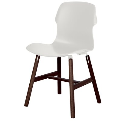 Stereo Solid Wood Dining Chair (Set of 2) Finish: White