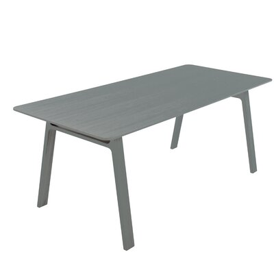 Pontoon Dinning Table Finish: Grey Painted Oak
