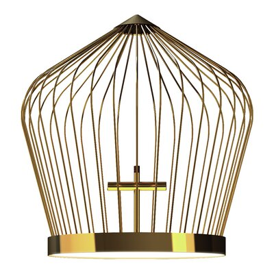Tweet 48-Light Foyer Pendant Finish: Gold Plated