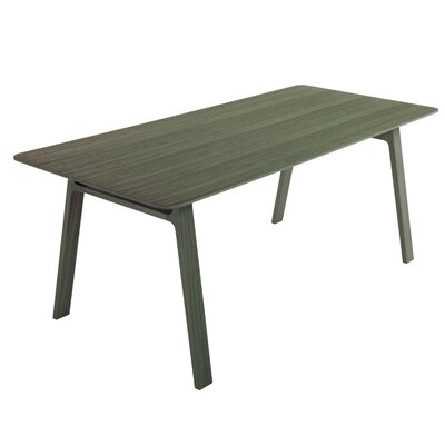 Pontoon Dinning Table Finish: Green Painted Oak